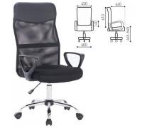 Кресло MG-330, хром, черное